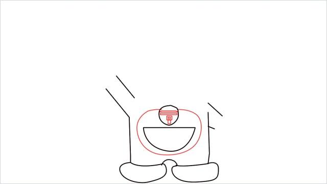 how to draw doraemon step (5)
