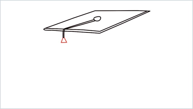 how to draw graduation hat step (5)