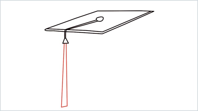 how to draw graduation hat step (6)