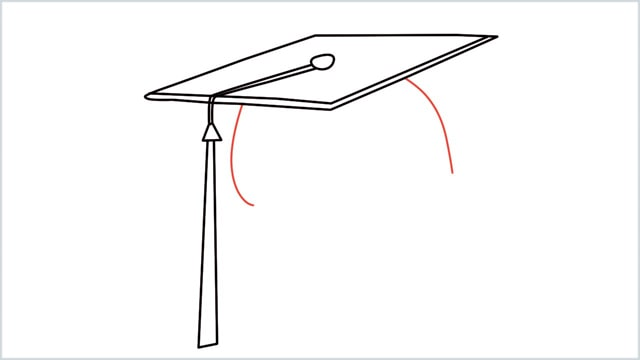 how to draw graduation hat step (7)