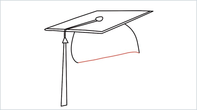 how to draw graduation hat step (8)