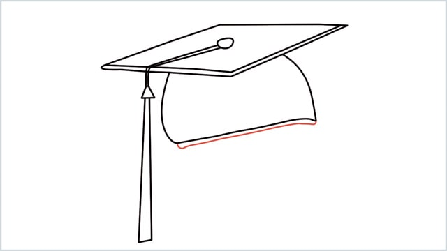 how to draw graduation hat step (9)