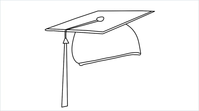 how to draw graduation hat