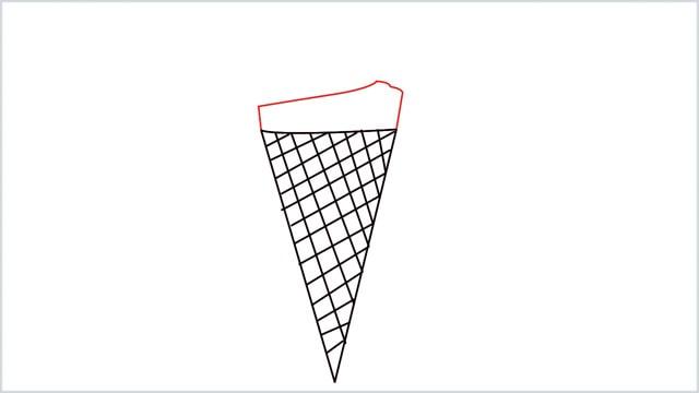 how to draw ice cream step (4)