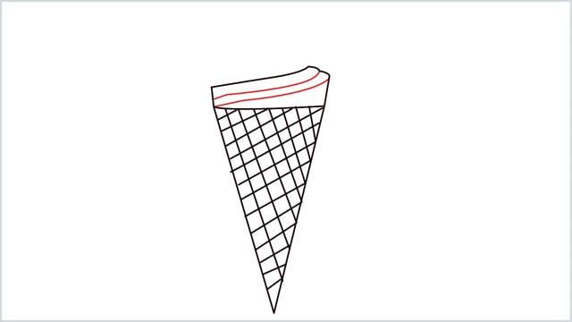 how to draw ice cream step (5)