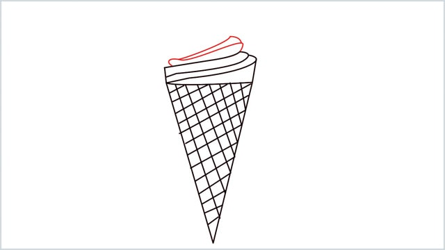 how to draw ice cream step (6)
