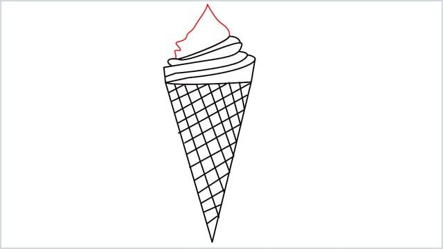 how to draw ice cream step (7)