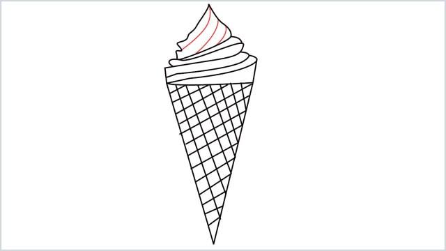 how to draw ice cream step (8)