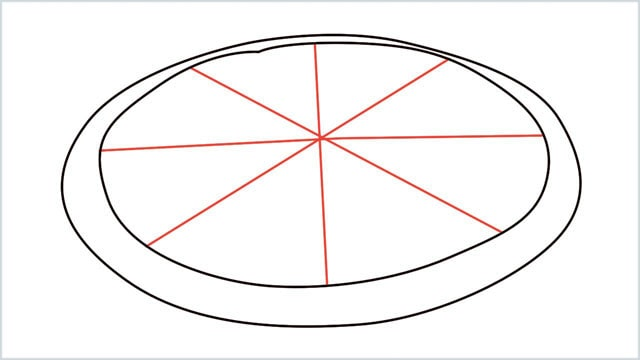 how to draw pizza step (3)