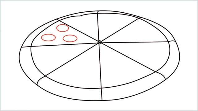how to draw pizza step (6)