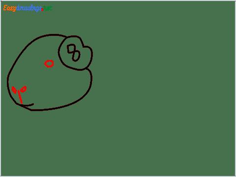 How To Draw A Cute Guinea Pig Step (5)