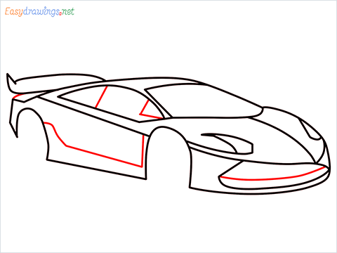 How To Draw A Lamborghini Step (10)