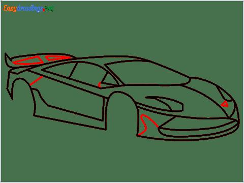 How To Draw A Lamborghini Step (11)
