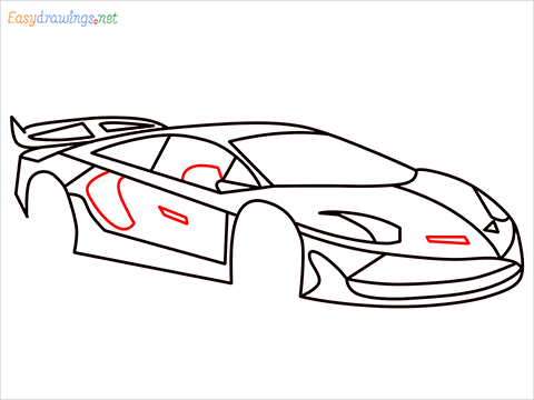 How To Draw A Lamborghini Step (12)