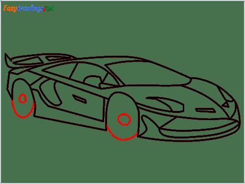 How To Draw A Lamborghini Step (13)