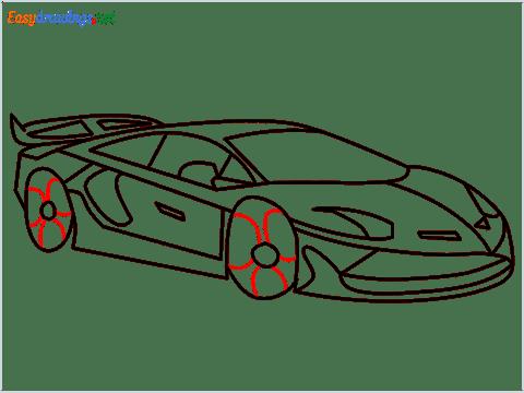 How To Draw A Lamborghini Step (14)