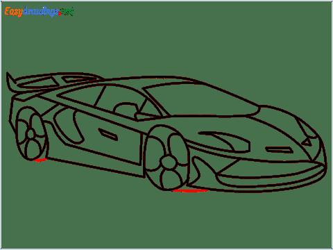 How To Draw A Lamborghini Step (15)