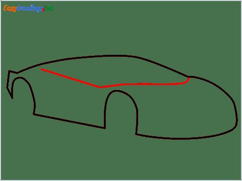 How To Draw A Lamborghini Step (4)