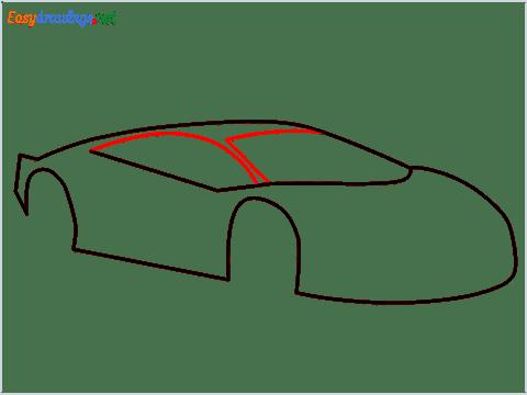 How To Draw A Lamborghini Step (5)