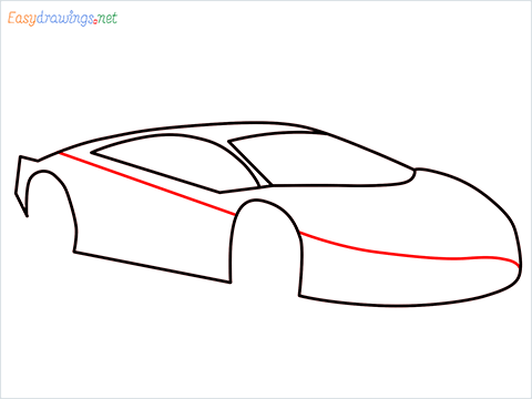 How To Draw A Lamborghini Step (6)