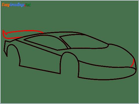 How To Draw A Lamborghini Step (7)