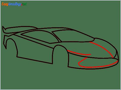 How To Draw A Lamborghini Step (8)