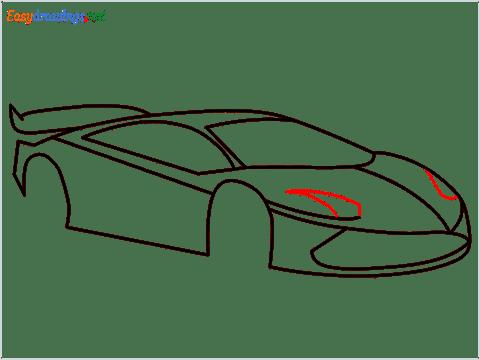 How To Draw A Lamborghini Step (9)