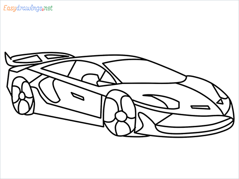 How To Draw A Lamborghini Step by Step for Beginners
