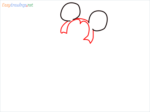 How To Draw A Mickey Mouse Easy Trick Step (2)