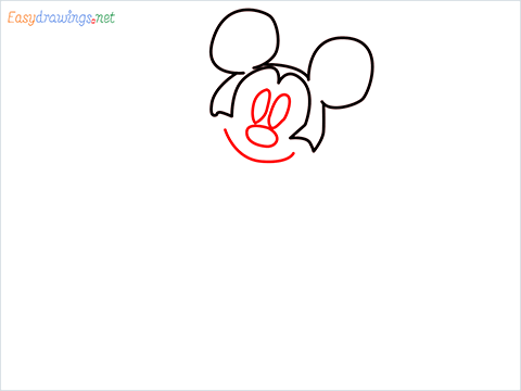 How To Draw A Mickey Mouse Easy Trick Step (3)