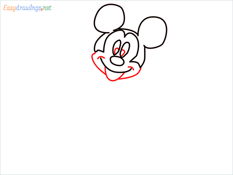 How To Draw A Mickey Mouse Easy Trick Step (4)