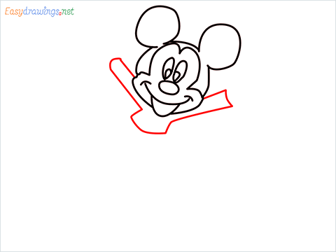 How To Draw A Mickey Mouse Easy Trick Step (5)
