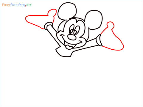 How To Draw A Mickey Mouse Easy Trick Step (7)