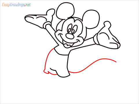 How To Draw A Mickey Mouse Easy Trick Step (9)