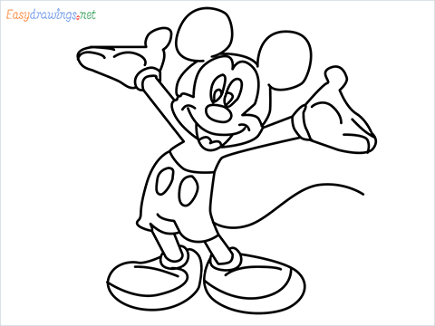 How To Draw A Mickey Mouse Easy Trick Step by Step for Beginners