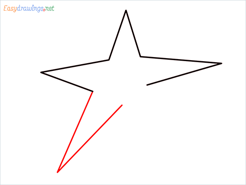 How To Draw A Star Easy Step (4)