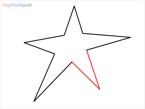 How To Draw A Star Easy Step (5)