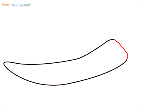How To Draw Chilli Easy Step (3)