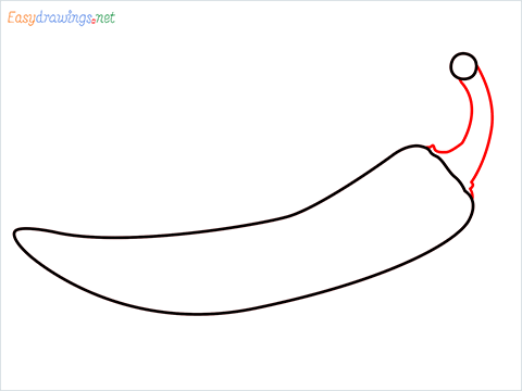 How To Draw Chilli Easy Step (5)