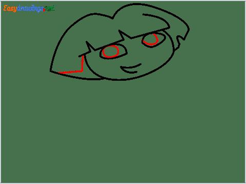 How To Draw Dora the Explorer Step (5)