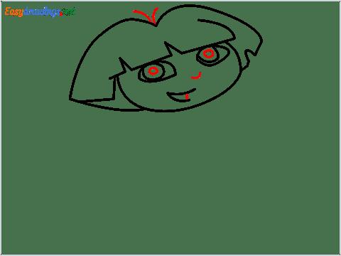 How To Draw Dora the Explorer Step (6)