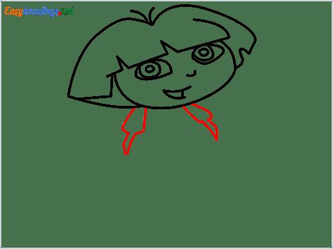 How To Draw Dora the Explorer Step (7)