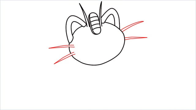 How to draw Meowth step (7)