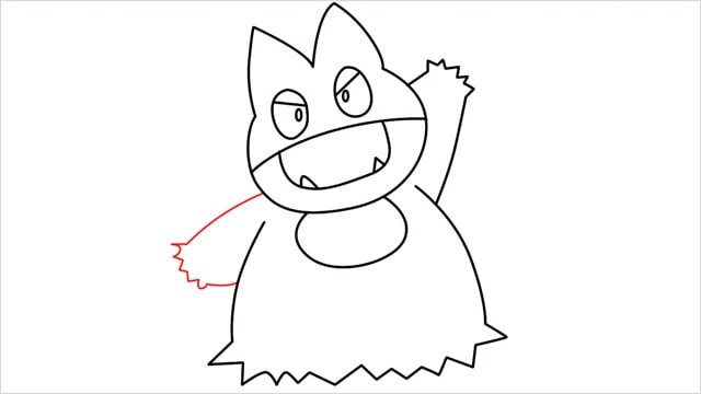 How to draw Munchlax step (10)