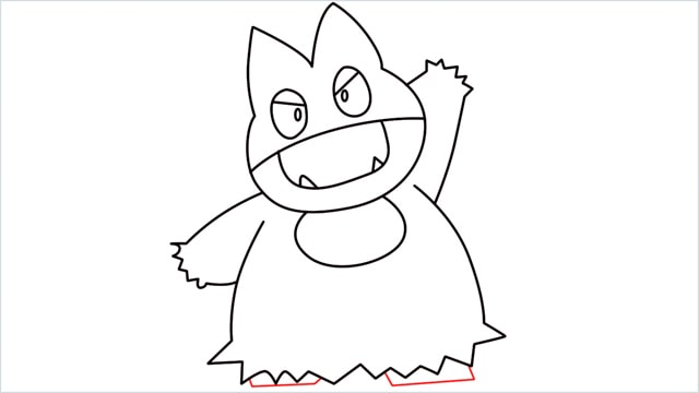 How to draw Munchlax step (11)