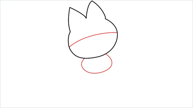 How to draw Munchlax step (3)