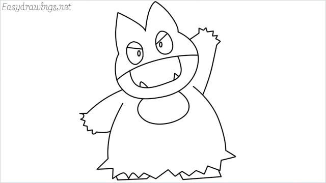 How to draw Munchlax step by step