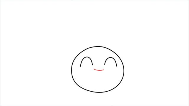 How to draw Oddish step (3)