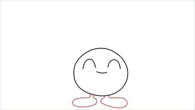 How to draw Oddish step (4)