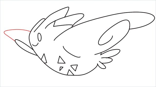 How to draw Togekiss step (10)